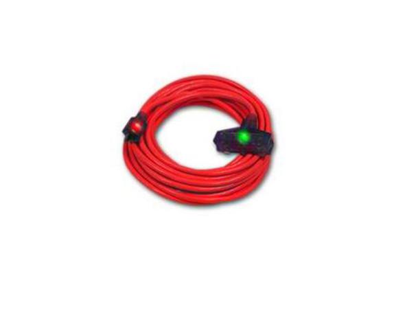 Century Wire D17222050 Pro Glo 12/3 Triple Tap 50 Foot Extension Cord Orange