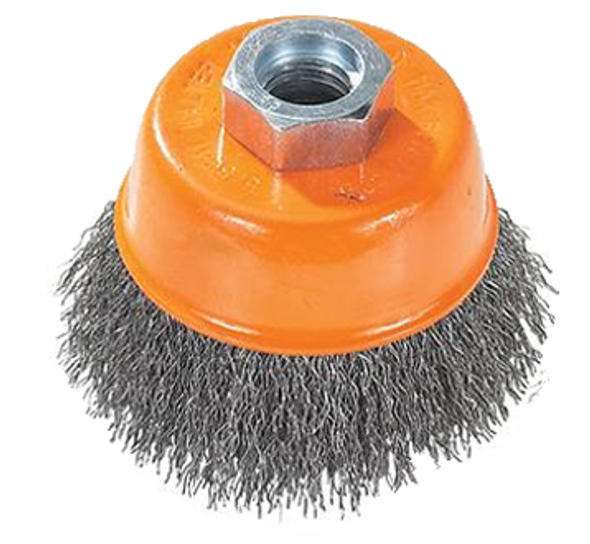 "Walter 13-E 504, Crimped Wire Cup Brush - 5"" x 5/8-11"""