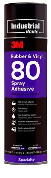 3M 80 Rubber & Vinyl Spray Adhesive