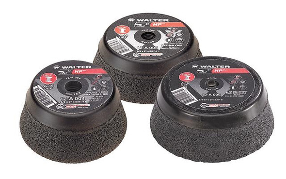 """Walter 12-A 005 5"""" x 5/8""""-11 """" HP Cup Wheels (For Steel)"""