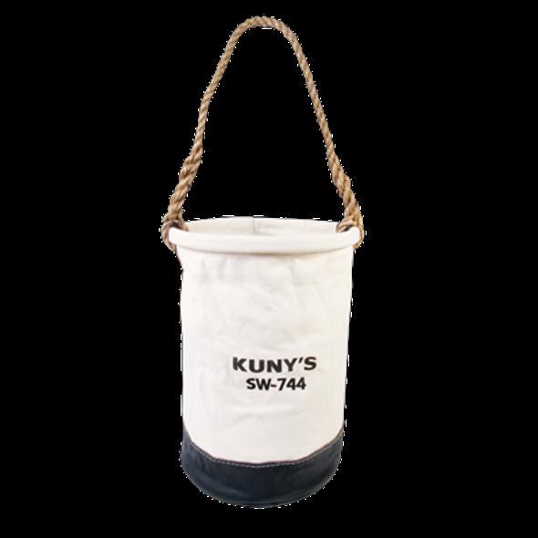 """Kuny's SW744 12"""" Leather Bottom Utility Bucket"""