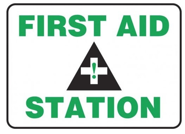 Accuform MFSD960VP Safety Sign: First Aid Station