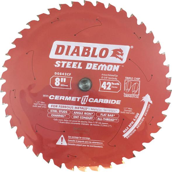 """Diablo Steel Demon 8"""" 42 Tooth Cermet II Metal Cutting Blades"""