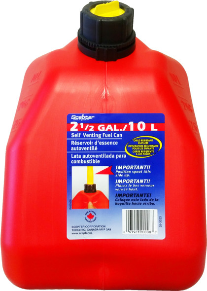10 Litre 2.5 gallon Red Plastic Gas Can