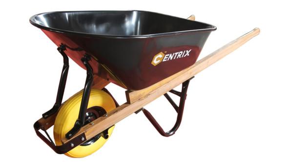 Centrix 70150 6CuFt Contractor's Flat Free Wheelbarrow