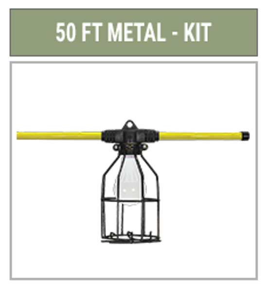 Hang-A-Light 121050, LED String Lights Metal Cage 50ft