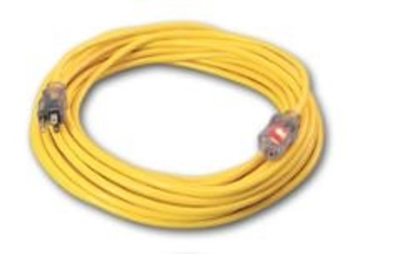 Century Wire D11712050YL Pro Star 12/3 50' Extension Cord Yellow - Single End