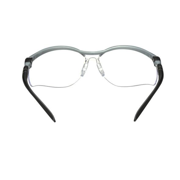 3M 11380 BX Protective Eyewear,  Clear Anti-Fog Lens, Silver/Black Frame