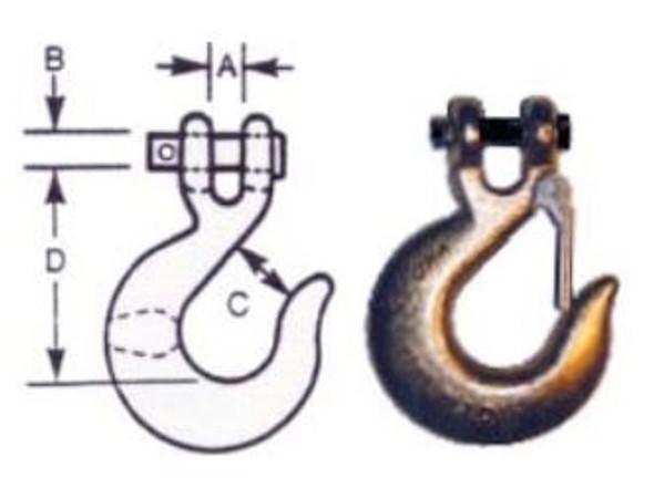 """Vanguard 3903-10161 Clevis Slip Hook - Alloy Steel 1/4"""""""