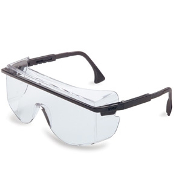 Uvex Astro OTG 3001 Safety Glasses, Clear Lens, Blue Frame