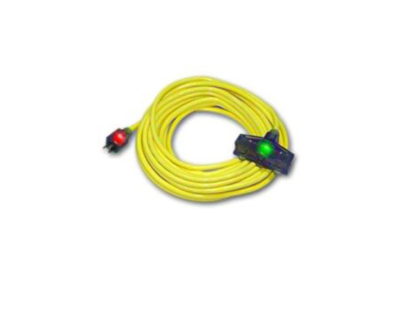 Century Wire D17223100 Pro Glo 12/3 Triple Tap 100 Foot Extension Cord Yellow