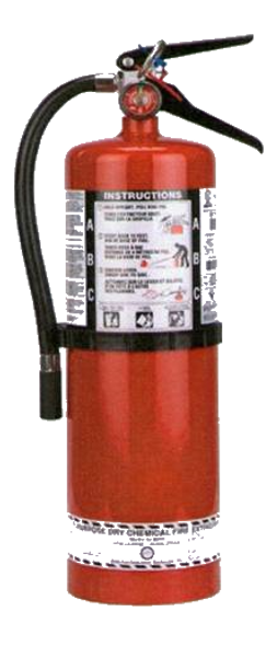 10 Lb Multi-Purpose Dry Chemical Portable Fire Extinguisher With Wall Mount
