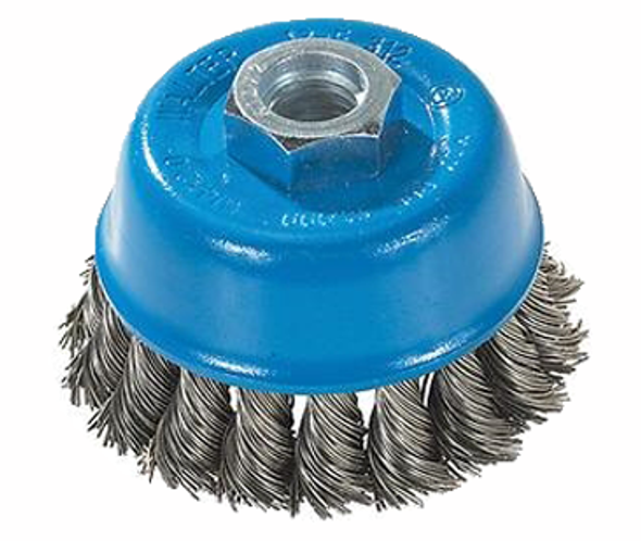 """Walter 13-F 314 3"""" x 5/8""""-11 """" Cup brush knot-twisted wire"""