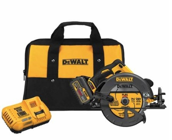 Our most powerful tools just got better with the 60V MAX 7-1/4 in. circular saw with electric brake. It has up to 47% more power than the DCS575 60V MAX
