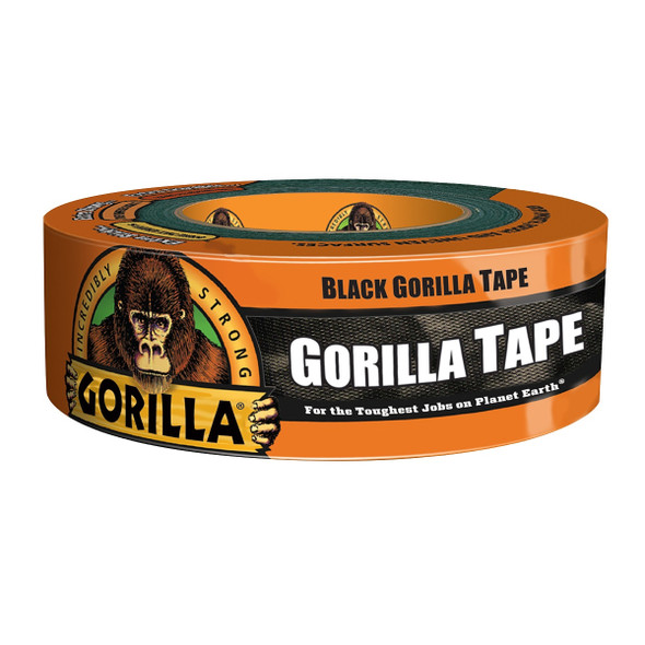 Gorilla Tape 6101003 Black Duct Tape 1 inch x 30 yards