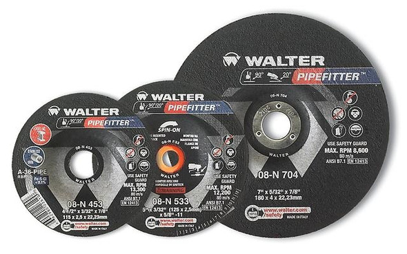 "Walter 5"" x 3/32"" X 7/8"" PIPEFITTER Grinding Wheel/Disc - A-20"