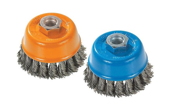 "Walter 13-F 304 Knot-Twisted Wire Cup Brush - 3"" x 5/8-11"""