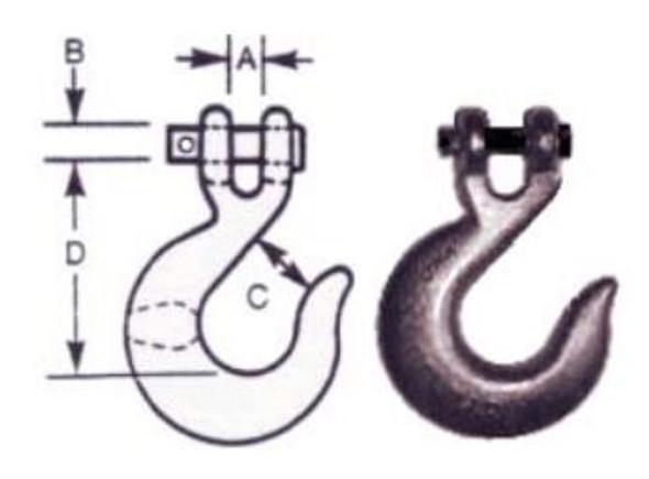 """Vanguard 3903-00161 Clevis Slip Hook - Carbon Steel 1/4"""""""