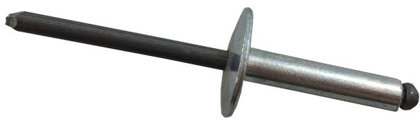 Open End Rivet Steel / Steel Large Flange