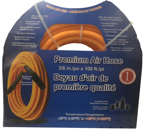 """Crispo 100 Polyurethane Air Hose 3/8"""" x 100"""