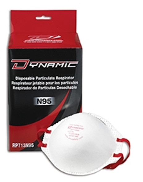 Dynamic Safety RP713N95 Standard N95 Disposable Respirator