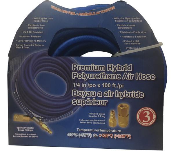 "Crispo 0450 Polyurethane Air Hose 1/4"" x 50 Hybrid"