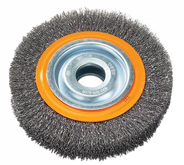 "Walter 13-B 060 Bench wheel brush with crimped wires 6"" X 7/8"""