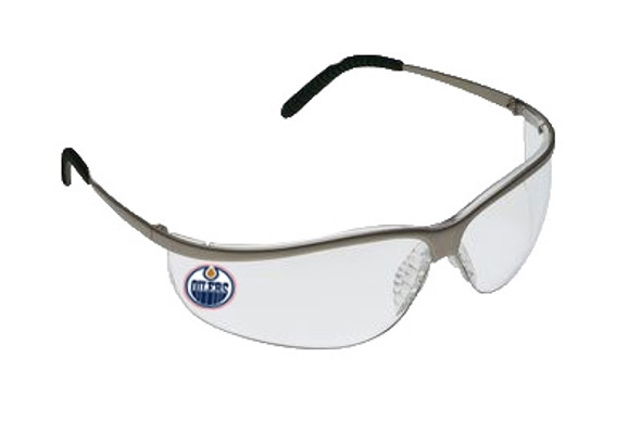 3M 11343-10000-20 MetaliKs Sport Protective Eyewear - Clear Anti-Fog Lens - Edmonton Oilers Logo