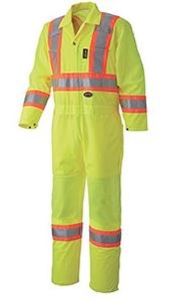 Pioneer 5999A V1070161 Hi-Viz Traffic Safety Coverall – Yellow/Green - XL