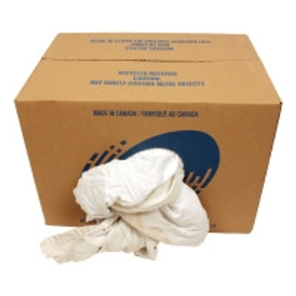 Cloth Rags #1 White 20 Pound Box