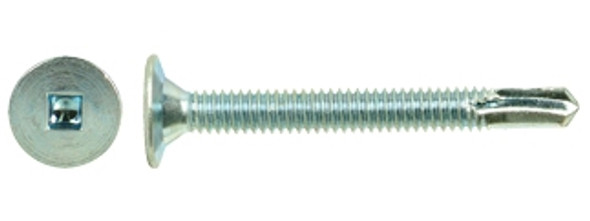 "#14-20 x 3"" Wafer Head, Zinc Plated Self-Drilling Screw"