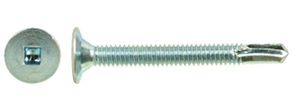 """#14-20 x 3"""" Wafer Head, Zinc Plated Self-Drilling Screw"""