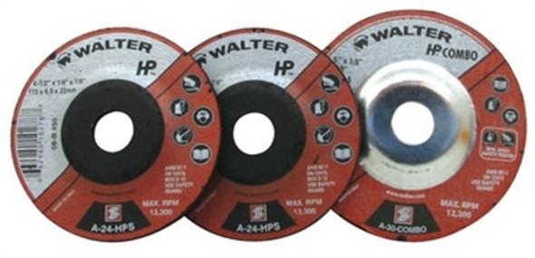 "Walter 08-B 462 4-1/2"" x 1/8"" HP COMBO Grinding Wheel/Disc - A-30"