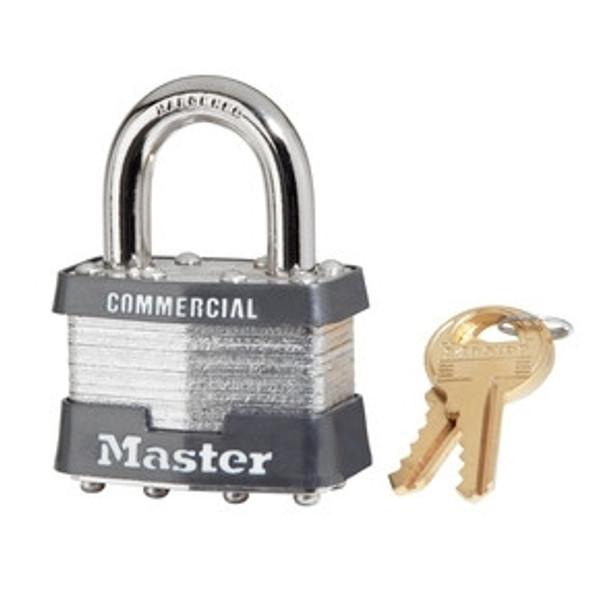 """Master Lock 3KA-0464, 1 9/16"""" Laminated Steel Pin Tumbler Padlock, Keyed Alike #0464"""