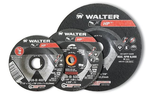 "Walter 08-B 600 6"" x 1/4"" HP Grinding Wheel/Disc - A-24-HPS"