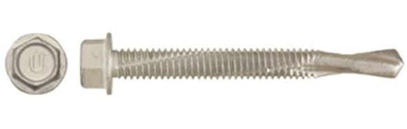 "Ucan TRH 145B5 Hex Washer Head Extra Drill Capacity #14-28 x 5"" TEK Screw - Ruspro Coated"