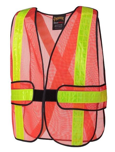 Hi-Viz Mesh Safety Traffic Vest-Orange