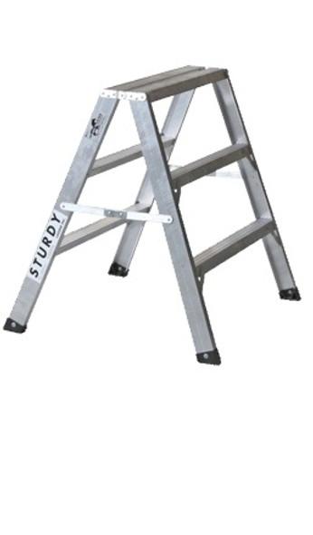 Sturdy 130-02 2' Aluminum Sawhorse Ladder