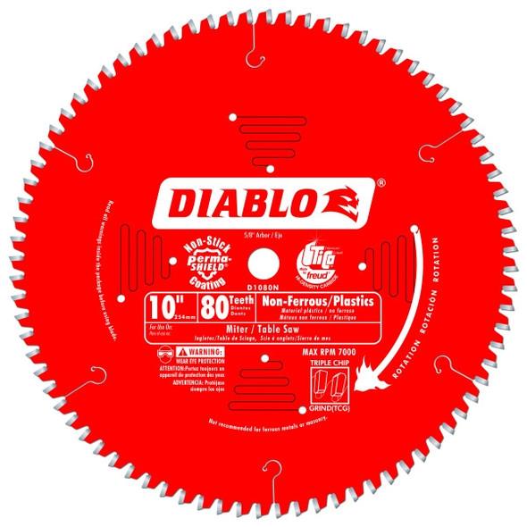 "Diablo 10"" 80 Tooth Non-Ferrous Blade"