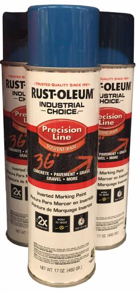 Rust-Oleum 203022 Precision Line Caution Blue Spray Paint