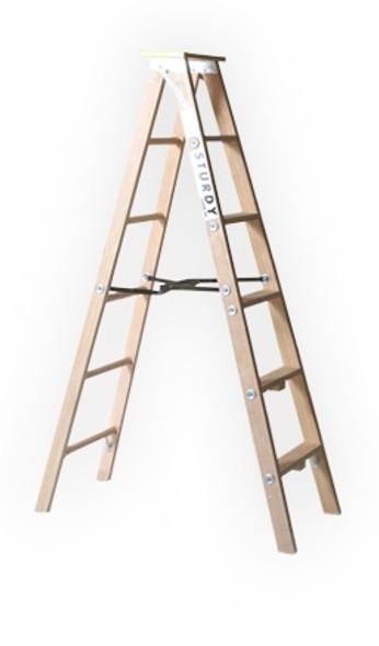 Sturdy 99-04 4'  Extra Heavy-Duty Industrial Wood Stepladder