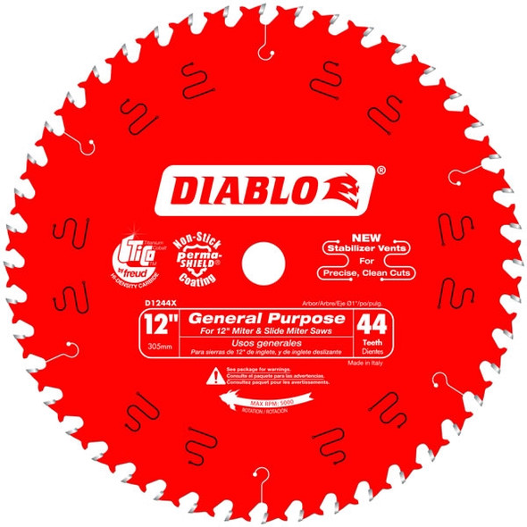 "Diablo 12"" - 44 Tooth General Purpose Saw Blade"