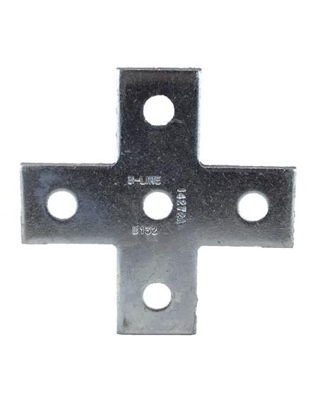 B-Line B132ZN, Five Hole Cross Plate Zinc