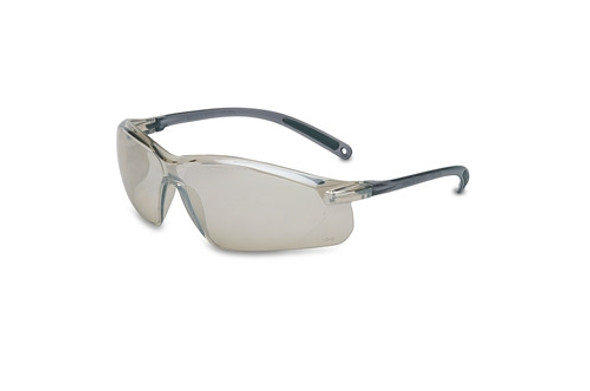 UVEX A700 Series Safety Glasses, Gray Frame, I/O Silver Lens