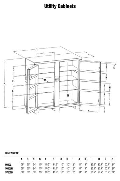 Greenlee 5660L 2 Door Utility Cabinet