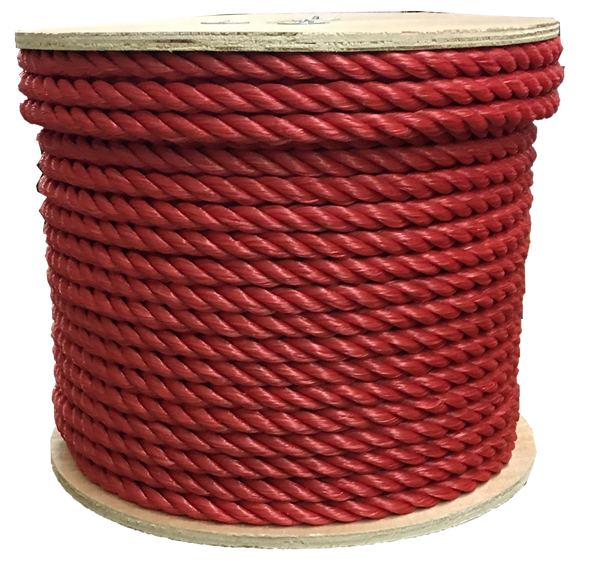 "3/8"" Red Poly Rope - 630'"