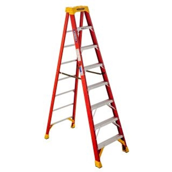 Werner 6208CA, 8 ft Type IA Fiberglass Step Ladder
