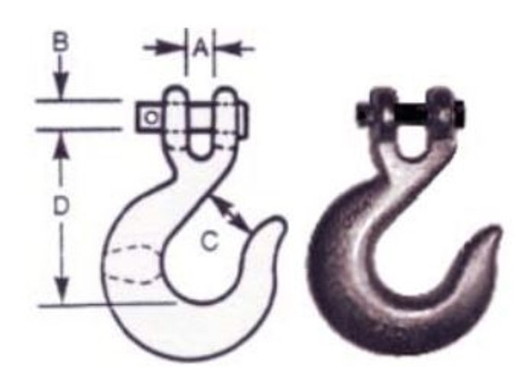"""Vanguard 3903-1020 Clevis Slip Hook - Alloy Steel 5/16"""""""