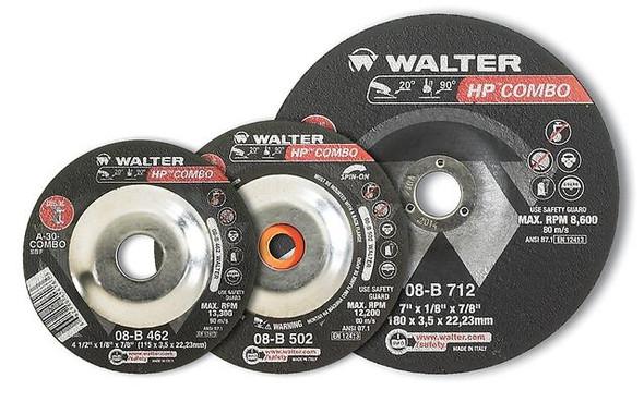"Walter 08-B 402 4"" x 1/8"" HP COMBO Grinding Wheel/Disc - A-24"