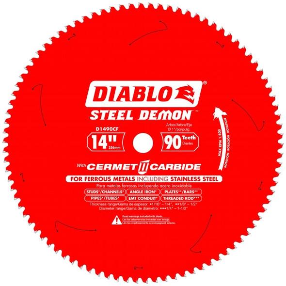 """Diablo 14"""" 90 Tooth Cermet II Metal Cutting Saw Blades"""